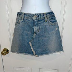 Paper denim & cloth light wash Jean mini skirt 28